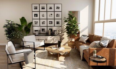 Ruang tamu modern minimalis kombinasi dua warna